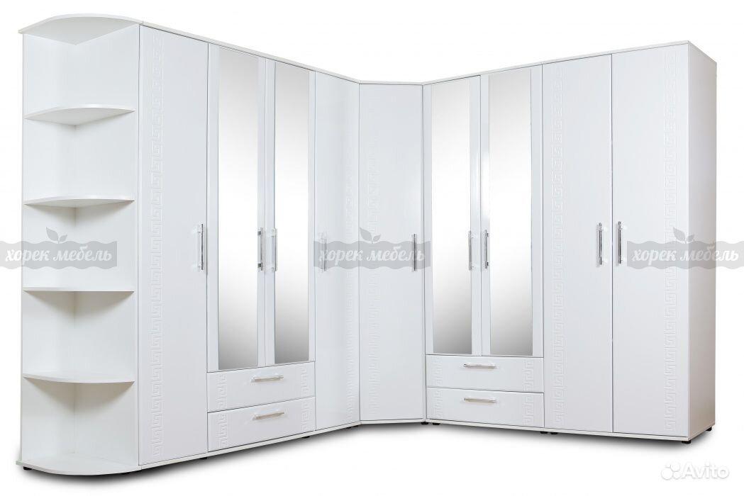Комплект шкафов оскар мдф белый в москве , купить мебель и и.