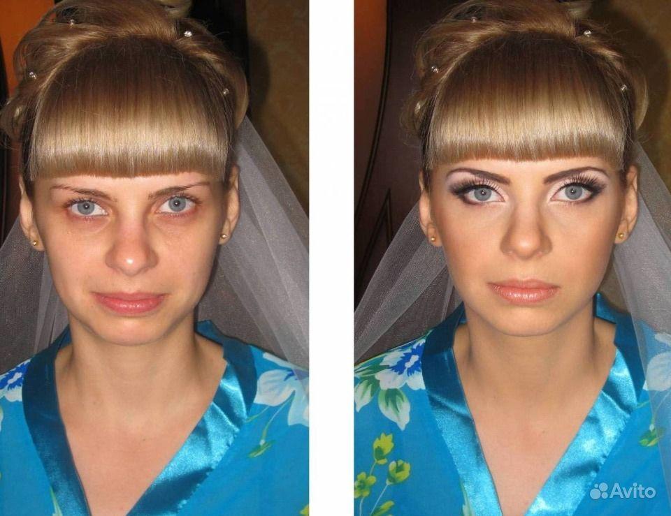 Изменить макияж и прическу на