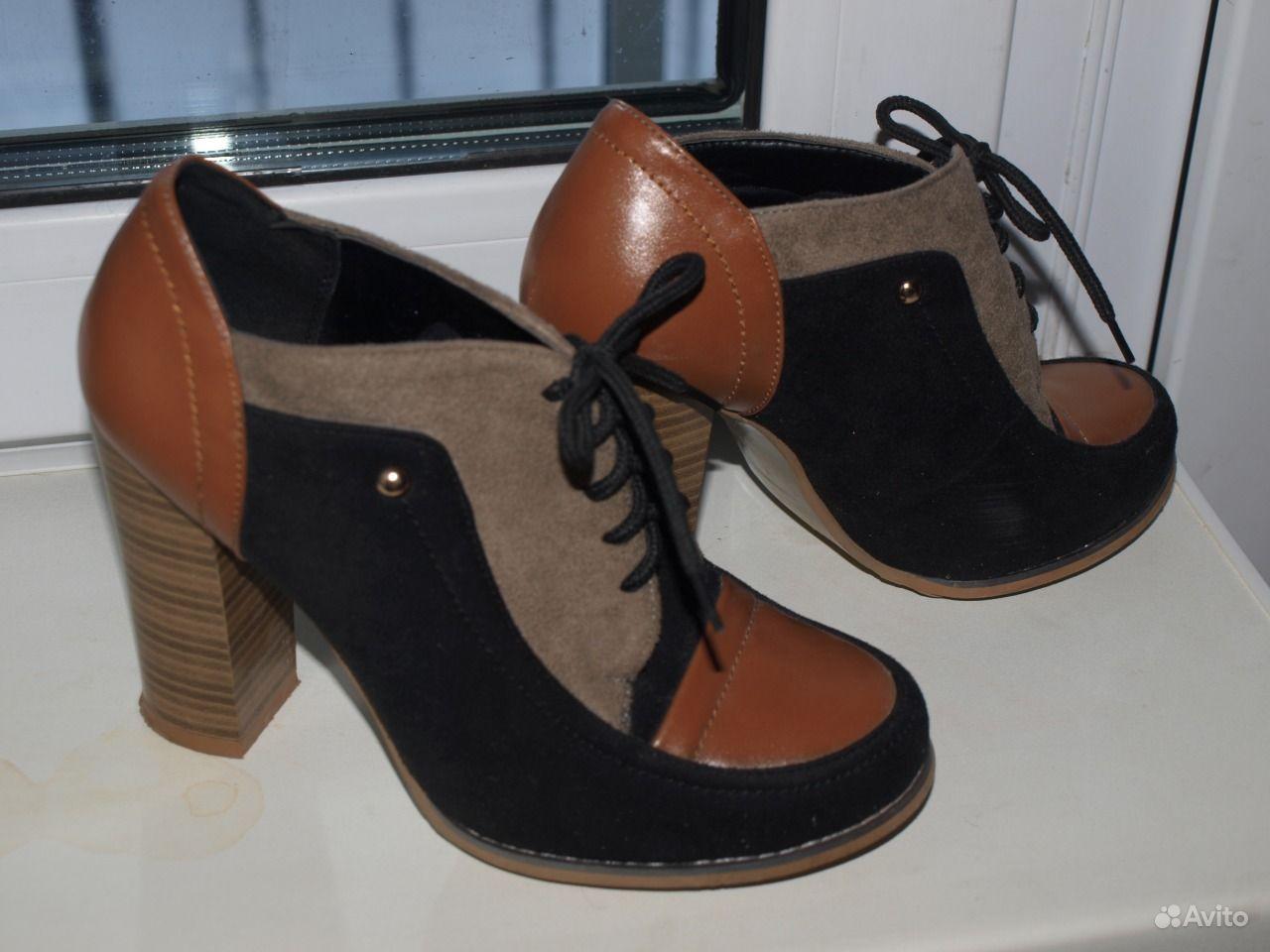 Ботильоны (туфли) женские коричнево-черные 37 р   Festima.Ru ... 64fd6d4ab77