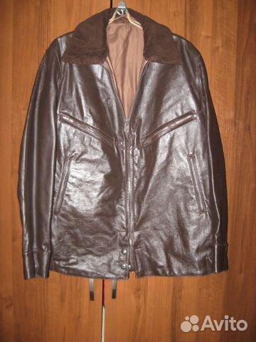 08fe455db496e Куртка лётная кожаная шевретка ввс СССР купить в Белгородской ...
