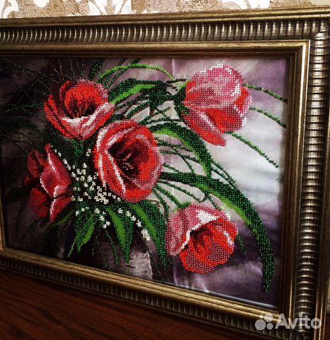 Вышитая картина бисером 89034474312 купить 1