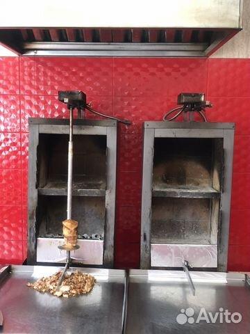 Аппарат шаурмы на углях