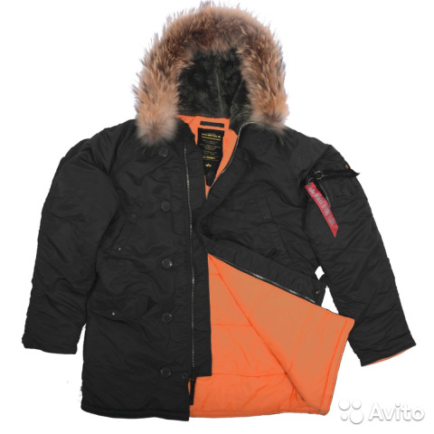 0f22e5e26da Куртка мужская N-3B Slim Fit натуральный мех 2XL