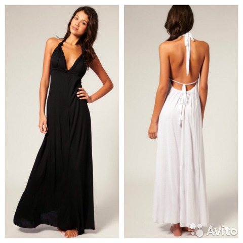 aee728a153c Длинное черное платье ASOS(Англия) купить в Москве на Avito ...