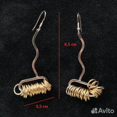 Длинные серьги с кольцами бижутерия сталь купить в Москве на Avito ... 053f9665176