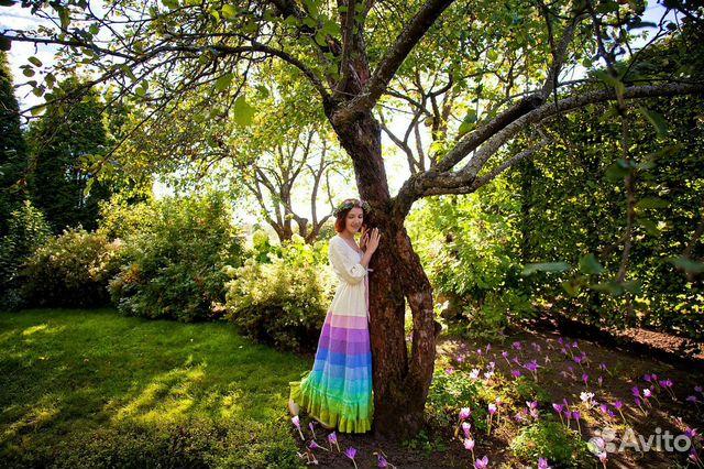 dd452630b4487a1 Платье бохо льняное выпускное, свадебное Sanabis купить в Псковской ...