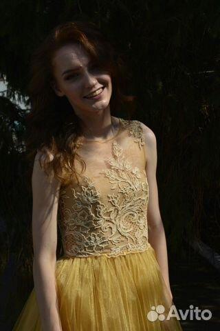 34f52484622 Платье с с кружевом и фатиновой юбкой