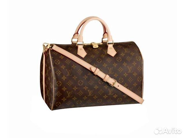 d9e85db3f8a9 Женская сумка Louis Vuitton Speedy 35 с плечевым купить в Москве на ...