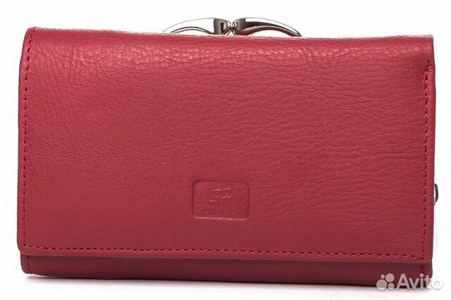 f85f8d2a6194 Бордовый женский кожаный кошелек арт. В-300070