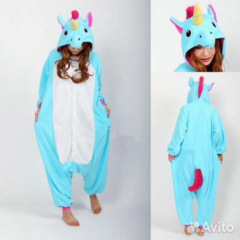 Пижамы кигуруми единорог L-XL и на 8-10 лет  6106563453ad4