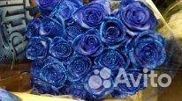 Цветами букет из синих роз купить спб