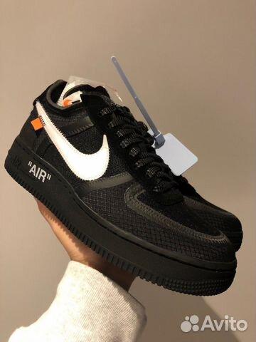 c39f7671 Nike x Off-White Air Force 1 Low Black купить в Москве на Avito ...