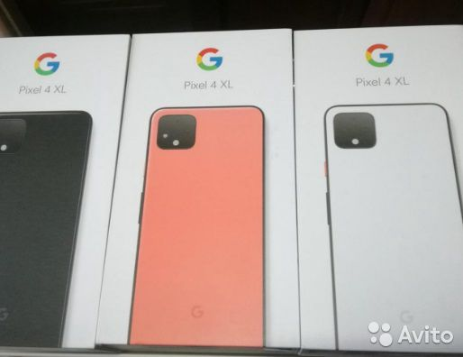 Google Pixel 4XL white, black, orange + earbuds