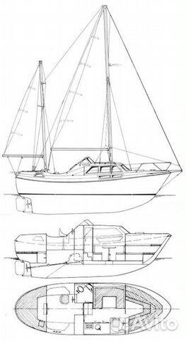 Парусно-моторная яхта motosailer 31 фут 89586042685 купить 8
