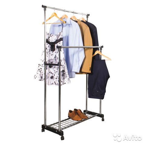 84942303606 Вешалка напольная для одежды двойная