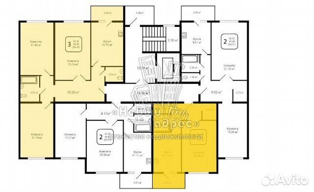 1-к квартира, 43.6 м², 2/10 эт. 89584186418 купить 5