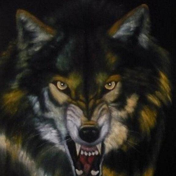 фото рисунки голография волчий оскал вас