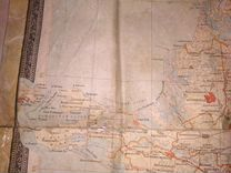 Карта Краснодарского края 1953г. с Крымом(РСФСР)