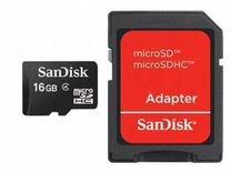 Карта памяти sandisk microsdhc 16Gb Class4