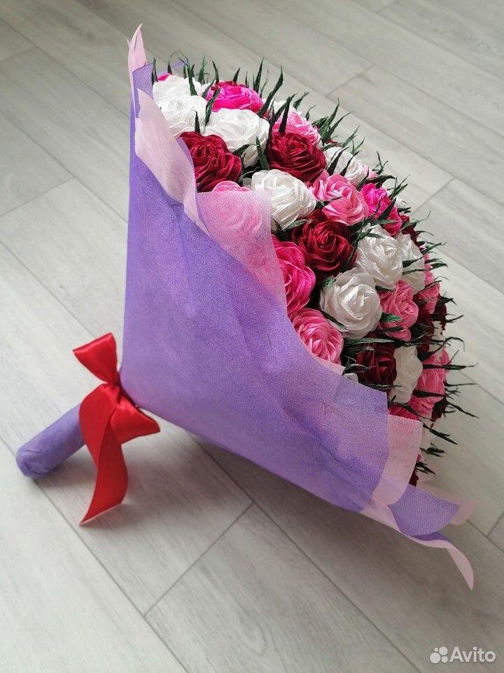 Букет роз из гофрированной бумаги 89519989628 купить 2
