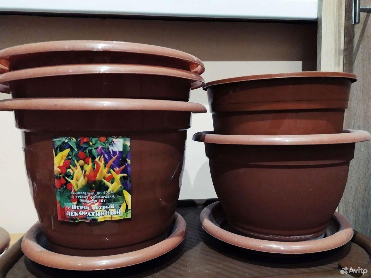 Горшки цветочные пластиковые  89657724903 купить 1