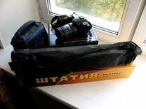 Nikon D90+Объектив Nikkor 18-200 + Сумка +Штатив