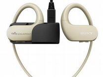 Наушники с MP3 плеером sony NW-WS413 цвет кремовый
