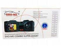Регистратор-радар SHO-ME combo super smart