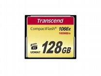 Карта CF Compact Flash Transcend 128 gb (1000x)